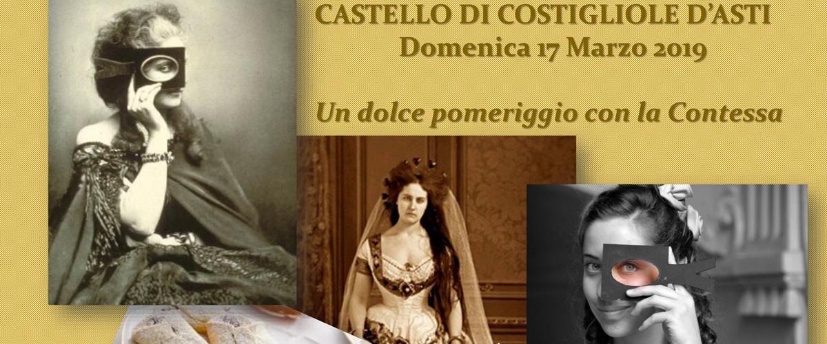 Al castello di Costigliole d'Asti un pomeriggio con la Contessa di Castiglione.