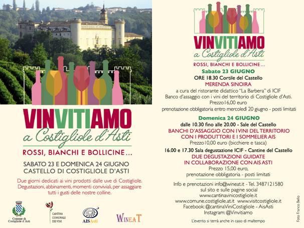 Locandina Viinvitiamo a Costigliole d'Asti.